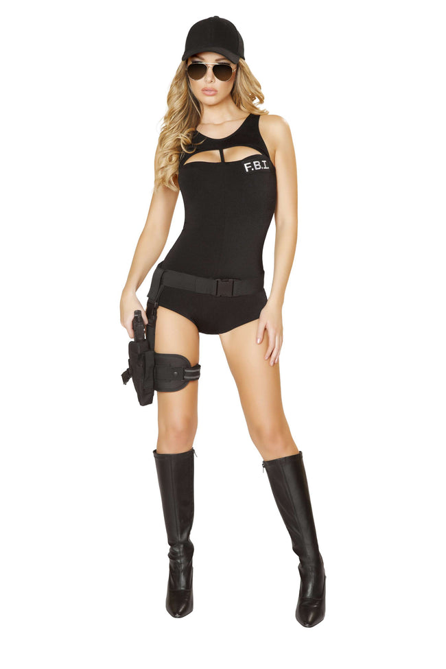 1pc Foxy FBI Agent - Black