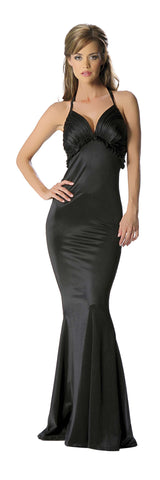 1pc Halter Mermaid Gown - Black