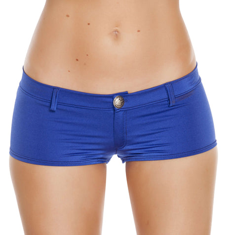 1pc Low Rise Shorts w/ Button Front & Pocket Details - Royal Blue