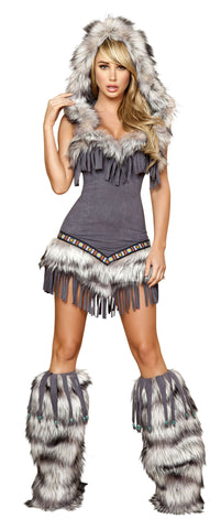 1pc Native American Temptress - Grey