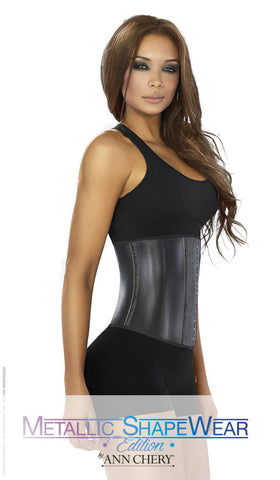 Latex Metallic Waist Cincher For Women - Fashion