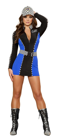 2pc Driving Diva - Black/Blue/White