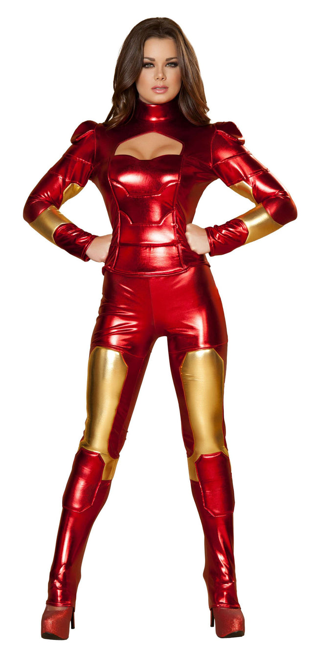 2pc Hot Metal Mistress - Red/Gold