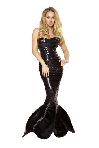 2pc Mermaid Mistress - Black