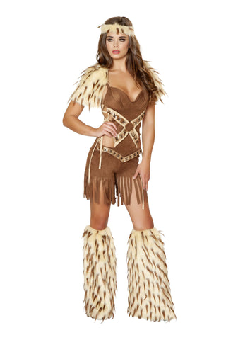 2pc Native American Warrior - Brown