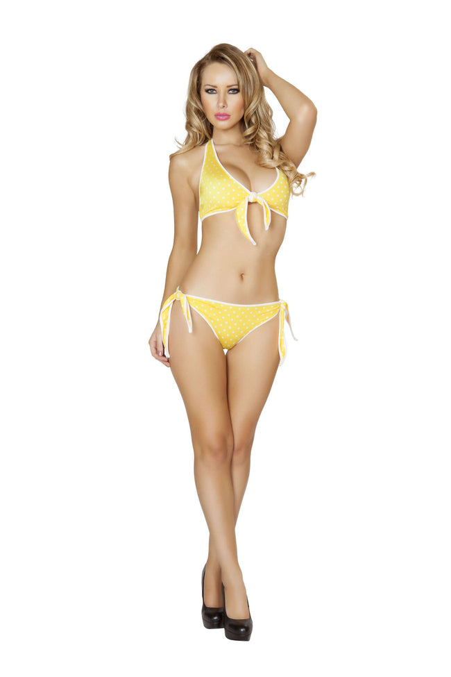 2pc Pinup Tie Side Bottoms and Tie Front Top