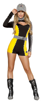 2pc Pit Crew Cutie - Black/Yellow/White