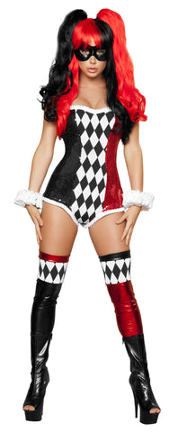2pc Sexy Jokester - Black/Red/White