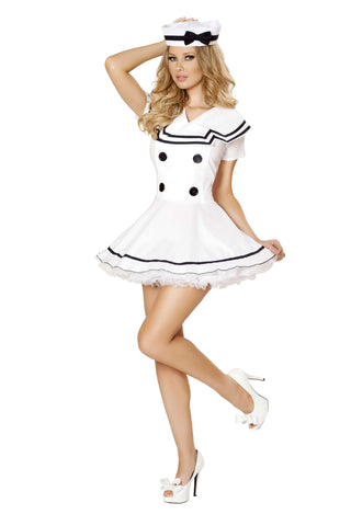 2pc Sexy Sailor Maiden - White