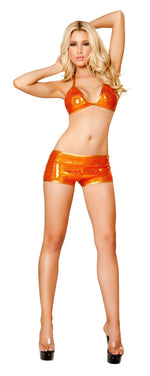 2pc Short Set w/ Triangle Top - Orange