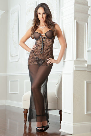 2Pc Sexy Night Gown  - Womens Fashion Lingerie