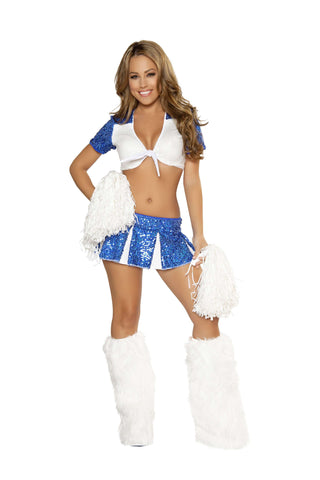 3pc Charming Cheerleader - Blue/White
