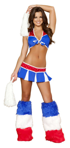 3pc Charming USA Cheerleader - Red/Blue/White