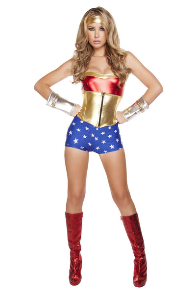 3pc Lusty American Superheroine