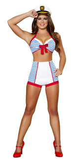 3pc Playful Pinup Sailor - Blue/White
