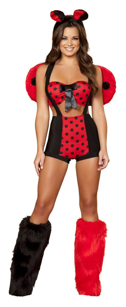 3pc Sexy Ladybug - Red/Black
