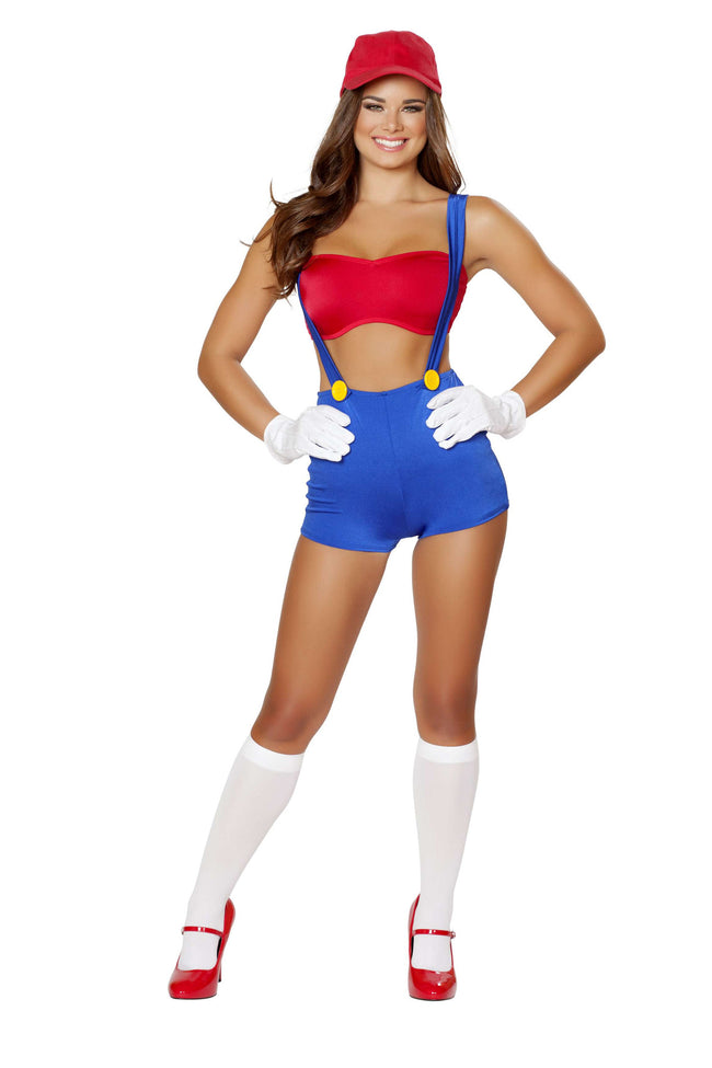 3pc Video Game Vixen - Red/Blue