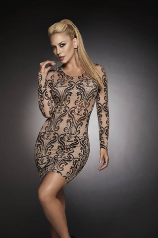 Sheer Mesh Dress - Fashion