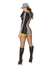 4887 - Roma Costume 1pc Race Car Driver Diva Nascar Back
