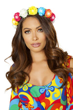 4888 - Roma Costume Multi Floral Light-up Headband