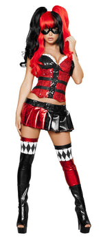 5pc Jester Hottie - Black/Red