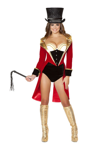 5pc Naughty Ringleader - Black/Red/Gold