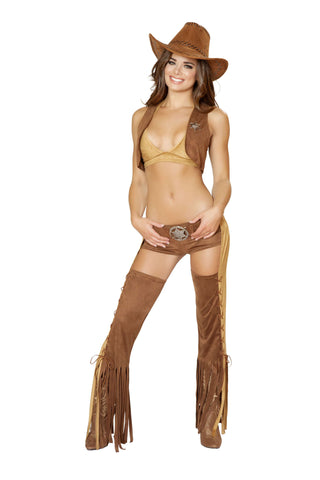 5pc Naughty Western Sheriff - Brown/Tan
