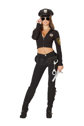6pc Seductive Cop - Black
