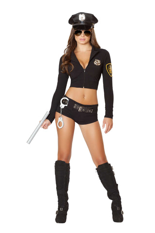 7PC Officer Hottie - Black
