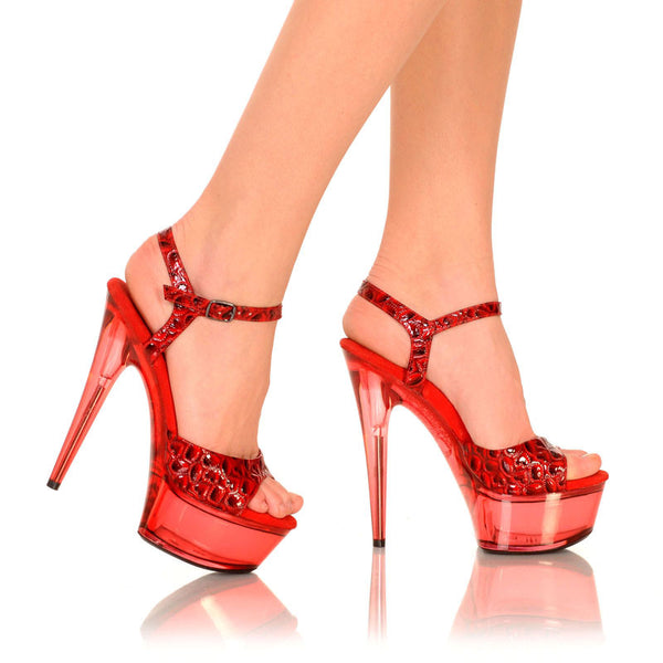 "6"" Platform With Heart Patent Upper And Qtr Strap-Red Heart Patent-AMBER-201"