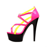 "6"" Strappy Platform Sandal With Ankle Strap"
