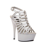 "6"" Strappy Platform With Stud Detail And Ankle Strap"