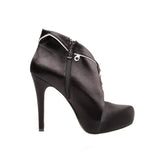 "5""Pull Over Satin Platform With Tuxedo Upper-Black Satin Genuine-BRONX-11"