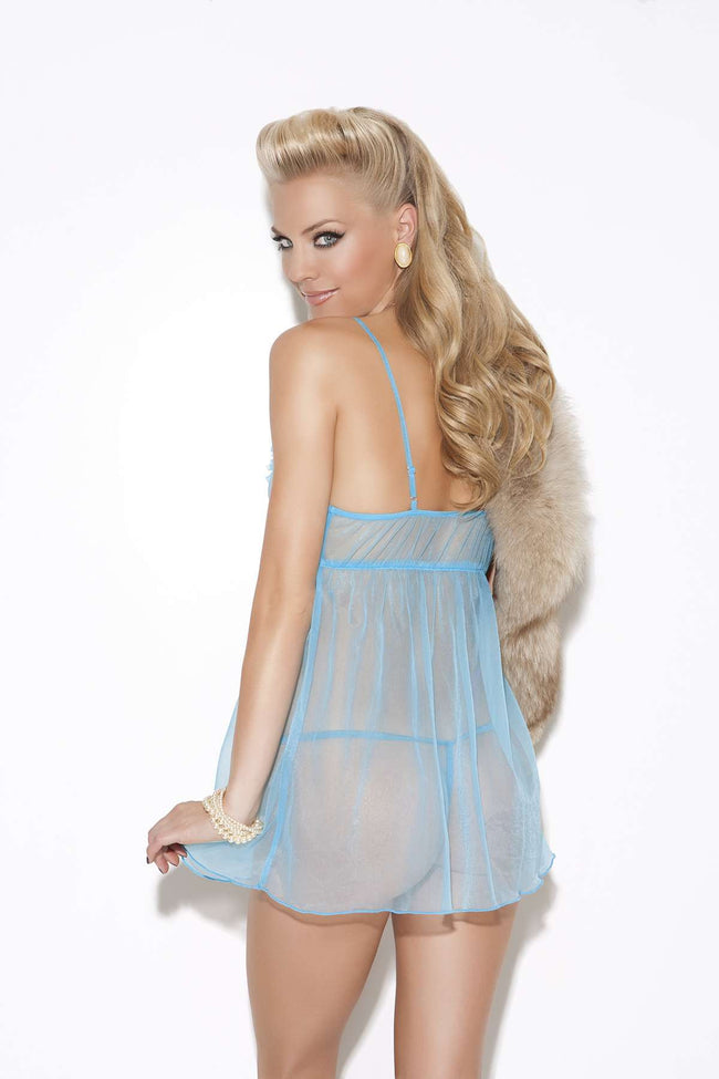 Babydoll and g-string Turquoise One Size