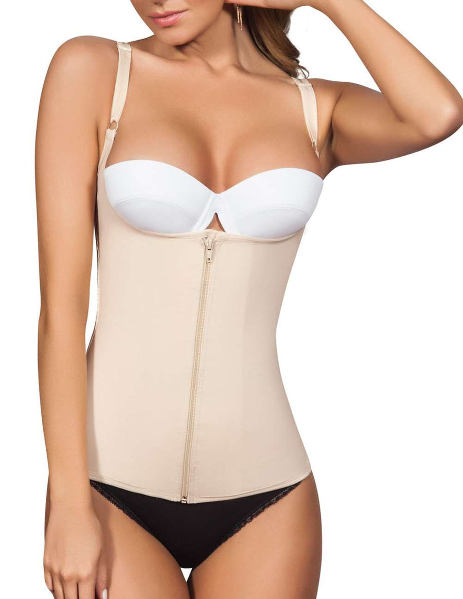 Body Shaper Blouse with Zip Up Front