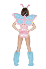 J Valentine CA130 Pastel Butterfly Bodysuit and Headband