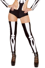 J Valentine CC223 Skeleton Thigh-Highs