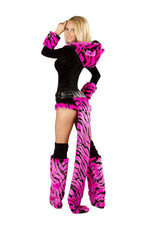 J Valentine CS235 Hot Pink Tiger Romper