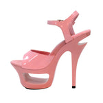 "6"" Cut Out Platform Sandal-Pink Patent PU-ENVY-11"