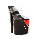 "7""1/2Platform With ZipperJacketOver Platform-Black & Red Combo-EXPOSED-11"