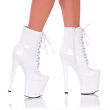 "7 1/2"" Platform Lace Up Ankle Bootie"