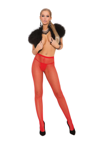 Plus Size Fishnet pantyhose  Red