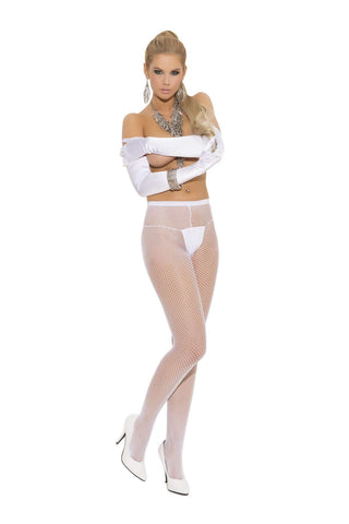 Plus Size Fishnet pantyhose  White