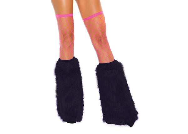 Furry boot covers Black