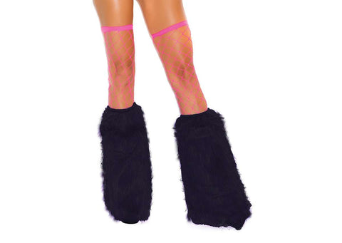 Furry boot covers Neon Blue