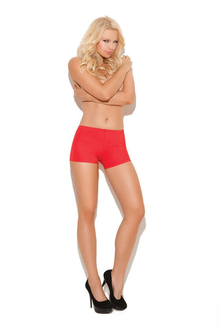 Plus Size Nylon lycra hot pants Red