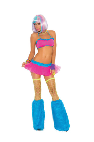 """Neon Nites"" Lycra bra top and matching tutu skirt *Available  Boxed Neon"