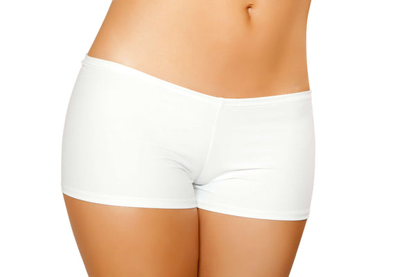Full Covered Shorts - White