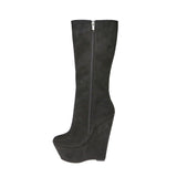 Wedge Knee Boot