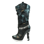 "5"" Platform Boot With Bullet Detail & Handgun Heel"